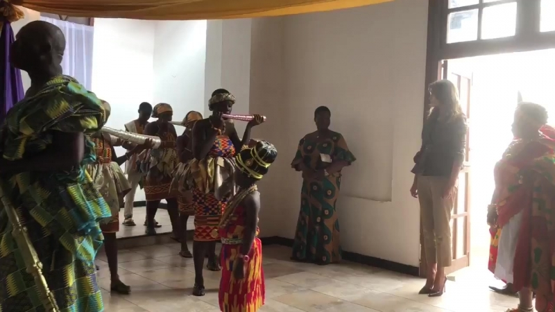 Watch Melania Trump Is Very Honored to Visit Obama Hall and Former Slave Trading Fort Without President in Ghana