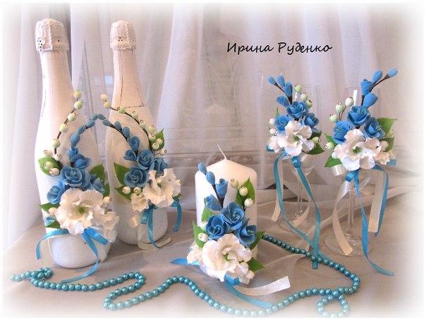 Свадебные аксессуары.Цветы из полимерной глины. Свадебные аксессуары