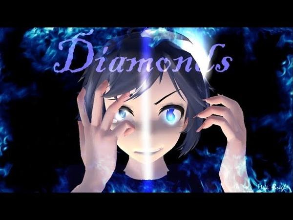 【MMD】(Blue exorcist/Ao no exorcist) Diamonds {motion DL} [Warning! Flickering images!]