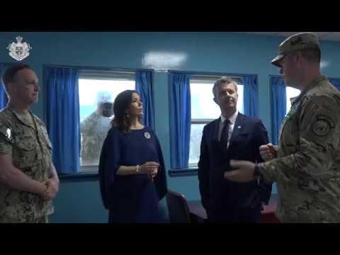 Kronprinsparret besøger den demilitariserede zone