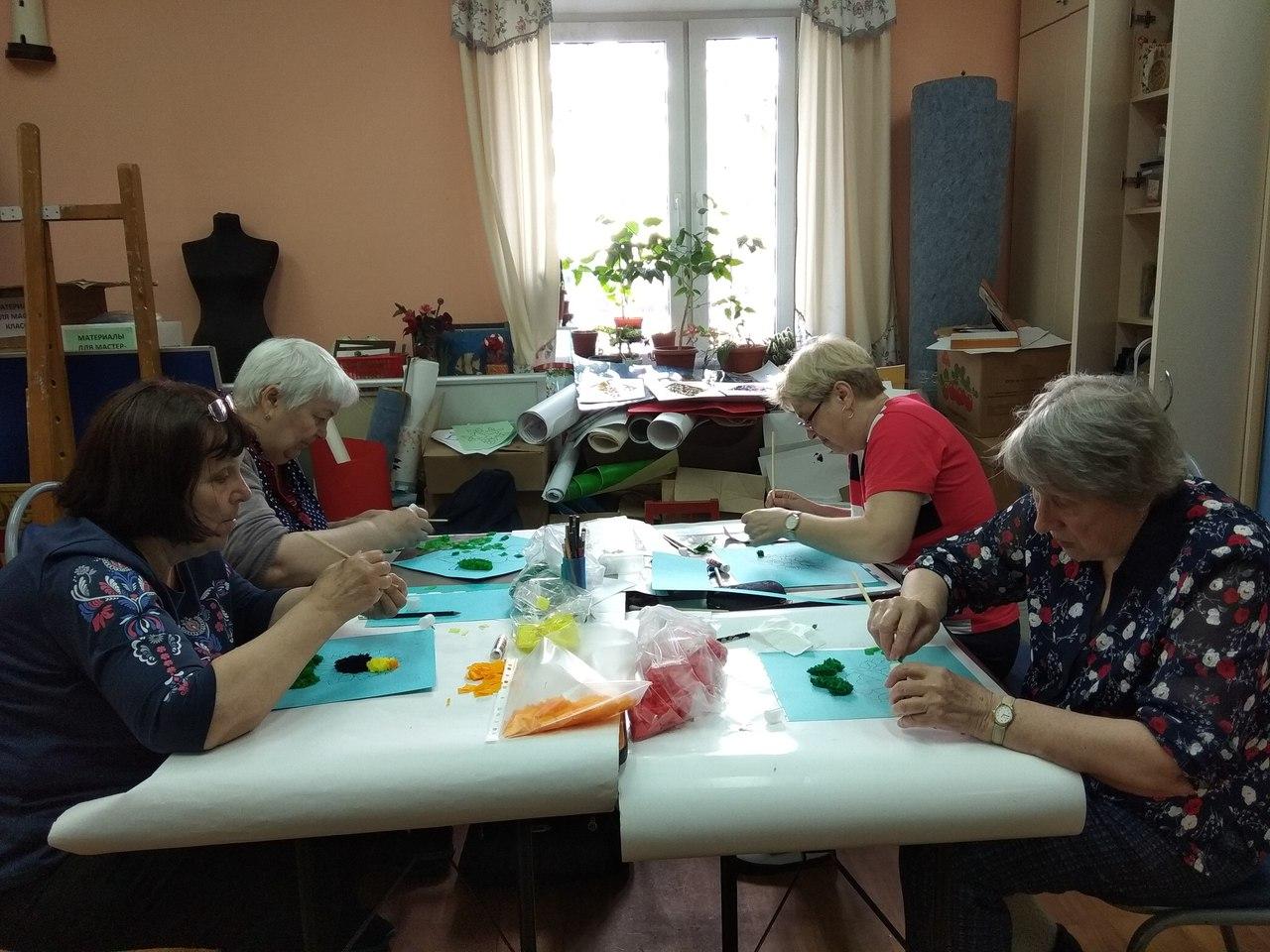 мастер-класс по торцеванию для пенсионеров
